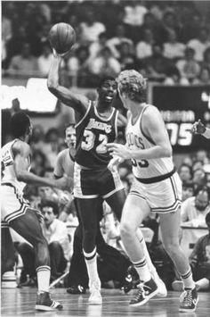 "When basketball players wore ""shorts""...  Legendary Magic Johnson & Larry Bird!!"