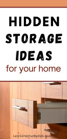 Discover these home storage ideas and hidden storage ideas to keep a decluttered home and a tidy home today #hiddenstorage #storageideas #hiddenstorageideas