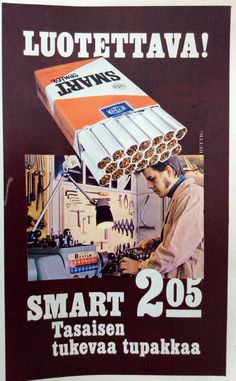 Smart - 1972 Old Commercials, Good Old Times, The Old Days, Old Ads, Vintage Ads, Finland, Nostalgia, Old Things, Advertising
