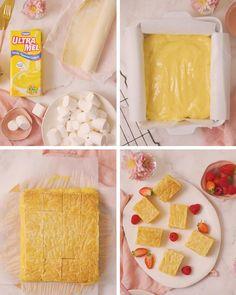 Easy Puff Pastry Recipe, Puff Pastry Desserts, No Bake Desserts, Fun Baking Recipes, Sweet Recipes, Kos, Crunchie Recipes, 3 Ingredient Desserts, Custard Tart