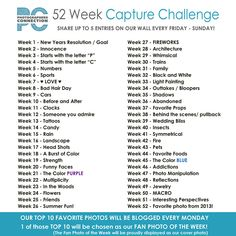 Photographers Connection | 52 Week Capture Challenge (2013 ...