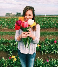The Most Beautiful Places to Travel to See Spring Flowers Around the World @hdamrow at the Wooden Shoe Tulip Festival, Oregon TheTravelWomen