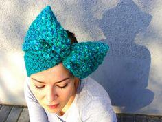 Nudakillers - Bow headband, sequins, handmade, knitted