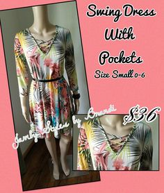 New Swing Dress With Pockets only at Jamby Styles by Brandi   https://www.facebook.com/groups/1875518876052251/