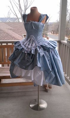 Alice and Wonderland Wedding Gown Corset Fairytale Dress-Custom to Order. $825.00, via Etsy.