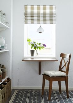 A nook under a window? Plenty of space for a cozy dining area.