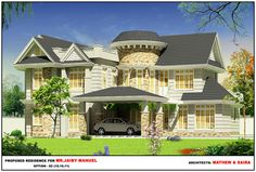 Proposed Residance for Mr. Jaily Manul by Mathewandsaira architects cochin