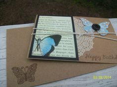 Beautiful Butterfly Birthday Card Blank Card by ScrapHappyMama, $3.95