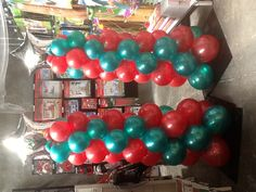Balloon christmas tree made by Let's Celebrate Parties