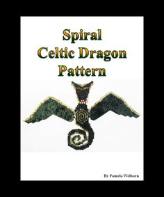Spiral the Celtic Dragon Necklace Bead Pattern Chart INSTANT DOWNLOAD by Violetbead on Etsy