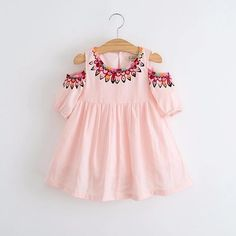 8e491e06ab5 Cold Shoulder Tribal Pink Dress - Ready To Ship Option Available Baby Girl  Dresses