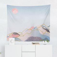 Searching for a Watercolor Pastel Mountain Tapestry? Shop for high quality Wall Tapestries designed by independent artists on W. Cool Tapestries, Colorful Mountains, Dorm Tapestry, Watercolor Walls, Tapestry Design, Mountain Art, Art And Technology, State Art, High Quality Images