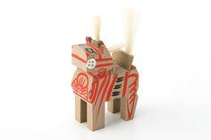 found muji aoyama engimono japanese good luck charms talismans crafts regional miharu-goma horse toy fukushima