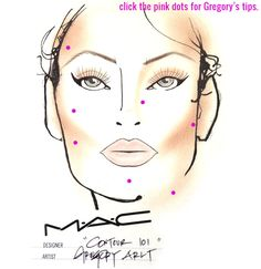 How To Contour: An Interactive Makeup Contouring Face Chart by MAC's Gregory Arlt
