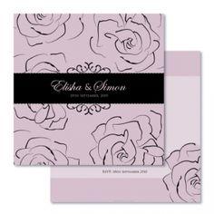 Auravella rose garden wedding invitations