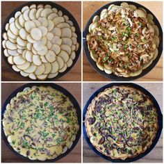 Truffle & Mushroom Quiche + Simple Side Salad + Mini Berry Tartlets // Route Well by Crystal Vaughn Dairy Free Recipes, Vegan Recipes, Yummy Recipes, Gluten Free, Quiche With Potato Crust, Mother's Day Brunch Menu, Truffle Mushroom, Mushroom Quiche, Mothers Day Brunch