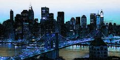 New York City - The Big Apple Painting by Sharon Cummings - New York City - The Big Apple Fine Art Prints and Posters for Sale