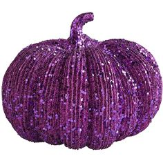 Pier 1 Imports Glittered Pumpkin - Purple ($2.18) ❤ liked on Polyvore featuring home, home decor, holiday decorations, fall, halloween, pier 1 imports, fall home decor, autumn home decor, halloween home decor and purple home accessories