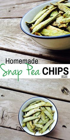 How to make homemade snap pea chips. Easy in oven or dehydrator! Saves money and is delicious!