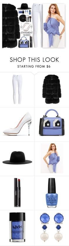 """""""~Double Take: Statement Shoes~"""" by amethyst0818 ❤ liked on Polyvore featuring Barbour, Givenchy, Oscar de la Renta, Les Petits Joueurs, Études, Chanel, OPI, NYX and Miu Miu"""