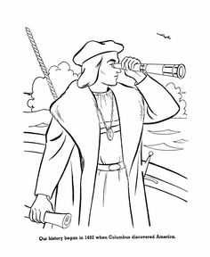 early settlers coloring pages - photo#17