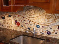 Klimt Mosaic backsplash-Lori Desormeaux | by lori.d (Lori Desormeau)