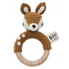 SEBRA Crochet Fawn Rattle... This stuff is expensive, but super cute! I wonder how to fake most of it?