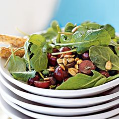 10 Clean Eating Recipes for Weeknights | Arugula, Grape, and Sunflower Seed Salad | CookingLight.com