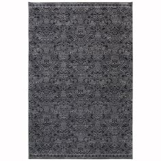 allen   roth Resbridge Black Rectangular Indoor Woven Area Rug (Common: 5 x 8; Actual: 5.3-ft W x 7.83-ft L x 0.5-ft Dia)
