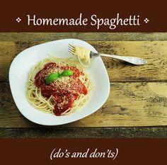 Homemade spaghetti - Little Yellow House Adventures