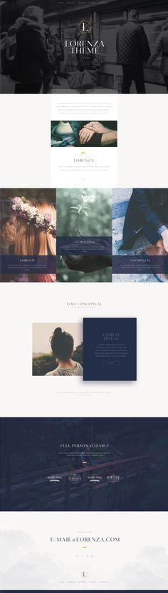 Lorenza Web Design #WebDesign #Inspiration #WebSite #UX #FrontEnd Web Design, Page Design, Template Site, Templates, Site Internet, Persona, Website, Poster, Inspiration