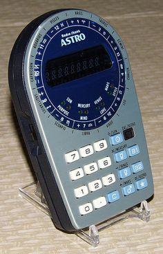 "Vintage Radio Shack ""Astro"" Astrological Computer-Calculator, Model EC-312, Catalog No. 65-801, Made in Taiwan, Circa 1970s."
