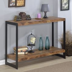 Millenial Collection Industrial Finish Console