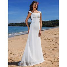 Sheath/Column Scoop Sweep/Brush Train Chiffon Wedding Dress  – USD $ 179.99http://www.lightinthebox.com/sheath-column-sweetheart-court-train-chiffon-lace-wedding-dress_p518980.html?utm_medium=personal_affiliate&litb_from=personal_affiliate&aff_id=25720&utm_campaign=25720