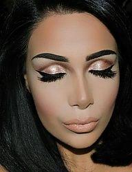 Kiss Makeup, Glam Makeup, Makeup Inspo, Makeup Inspiration, Makeup Ideas, Beauty Makeup, Eye Makeup, Hair Makeup, Hair Beauty