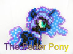 My Little Pony Silly Filly Perler Ponies: Nightmare Moon by ThePerlerPony
