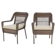 In Wicker Armchair, Wicker Lounge Chair, Patio Lounge Chairs, Wicker Chairs, Outdoor Lounge, Outdoor Chairs, Outdoor Seating, Patio Loveseat, Outdoor Cushion Covers