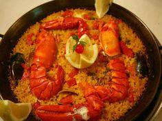 Arroz con Bogavante y Almejas en Paella. Reserva online en EligeTuPlato.es