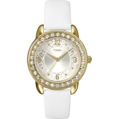 8878477515d Amazon.com: Timex T2N445 Ladies Classics Stones White Watch: Watches