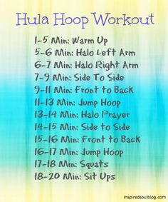 This could take a while to perfect, but totally worth it!  The Hula Hoop Workout from inspiredsoulblog.com