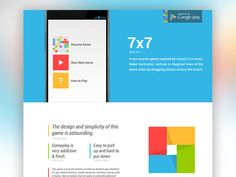 Concept 2 of the homepage for 7x7 on Android. by Adam Debreczeni