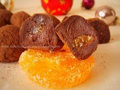Truffes chocolat noir, menthe fraiche (recette de noel) Menthe Fraiche, Macarons, Truffles, Caramel, Biscuits, Clean Eating, Christmas, Dark Chocolate Truffles, Homemade Chocolate