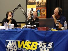 "Irwin on air with Dave Baker and the ""granite"" guy.  2013 Fall Atlanta Home Show"