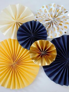Folding rosettes I paper roses I paper fans  party decoration