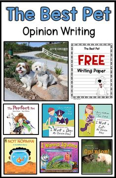 The Best Pet Opinion Writing-FREE graphic organizer and writing paper - Free Educational Resources for Teachers - Writing Mentor Texts, Opinion Writing Prompts, Persuasive Writing, Writing Lessons, Writing Rubrics, Paragraph Writing, Writing Goals, Writing Assignments, Writing Worksheets