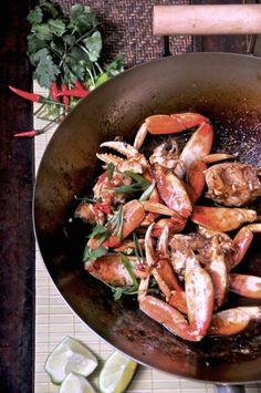 crab in tamarind & plum sauce
