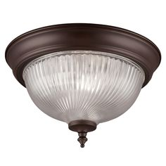 Project Source 11-in W Painted Oil-Rubbed Bronze Ceiling Flush Mount Light