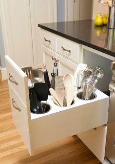 #homedecor #kitchenideas #inspiration |Creative Utensil Storage
