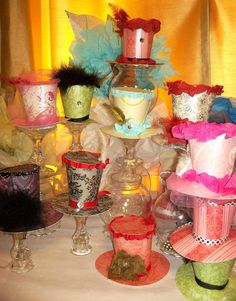Mini Mad hatter hats party favors, will be loaded on site this week.  Huge success at Saturdays sweet 16.