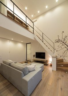 """Get wonderful tips on """"cheap home decor for apartments"""". They are actually readily available for you on our site. Modern Japanese Interior, Minimalist Home Interior, Small Living Rooms, Living Room Designs, Cozy Living, Small House Interior Design, House Design, Garde Corps Metal, Tiny House Loft"""